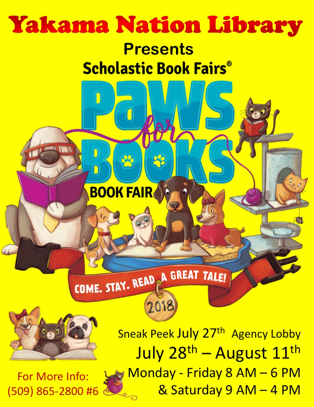 2018 Paws for Books Event