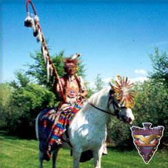 Tribal Member On Horse